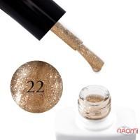 Гель-лак Nails Molekula 022 золотое мерцание, 11 мл