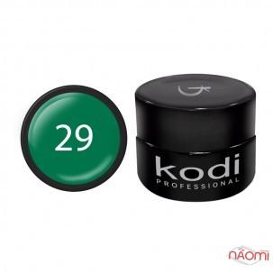 Гель-фарба Kodi Professional 29, колір насичений зелений, 4 мл