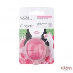 Бальзам для губ EOS Organic Strawberry Sorbet Клубничный сорбет, 7 г