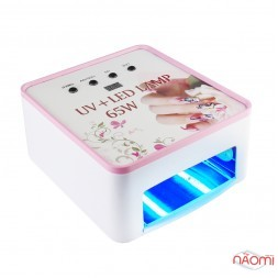 Универсальная UV+LED лампа UV-36W - LED-24W 2 в 1 LED 19, таймер 30-240 сек. и бескон., цвет белый