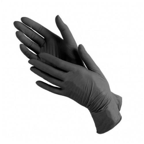 Перчатки виниловые SanGig упаковка - 50 пар, размер M (без пудры), плотность 4,7 г, черные, фото 1, 229.00 грн.