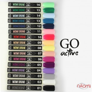 Гель-паста Go Active Gel Paste Wow Draw 012, темно-синій, 4 г