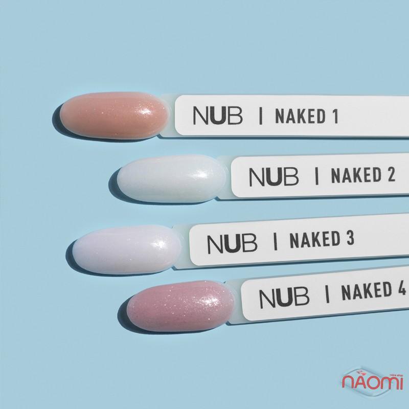 Гель-лак NUB Naked 02 Milk Opal молочный айвори с переливающимися шиммерами и микрослюдой, 8 мл, фото 3, 149.00 грн.