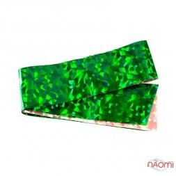 Фольга для ногтей переводная, для литья, зеленая, битое стекло  L= 1 м ширина 4 см