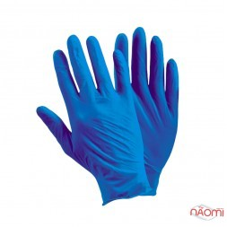 Перчатки нитриловые упаковка - 50 пар, размер L (без пудры),темно синие
