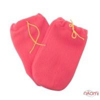 Варежки для парафинотерапии флисовые на завязках, цвет розовый, пара