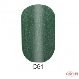 Гель-лак Naomi Cat Eyes С61 изумрудно-зеленый с перламутром, 6 мл