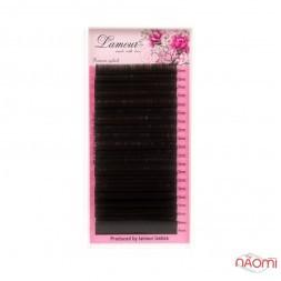 Вії Lamour R 0,085 (20 рядків: 10-14 мм), чорні