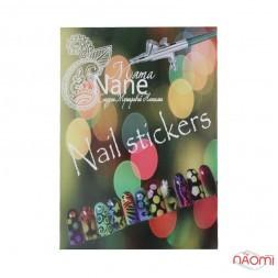 Трафареты-наклейки для nail-art 005, в наборе 5 листов