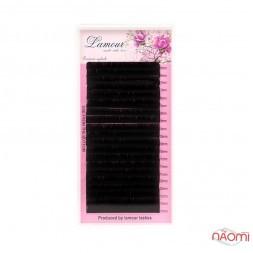 Вії Lamour C 0,06 (20 рядків: 6-13 мм), чорні