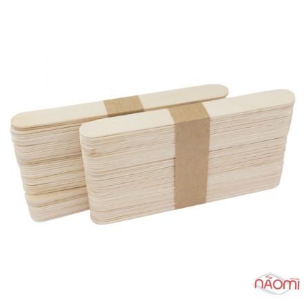 Шпатель деревянный, одноразовый 15 х1,7 см, 100 шт., фото 1, 63.00 грн.