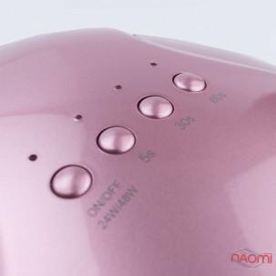 УФ LED лампа світлодіодна Sun One 48 Вт і 24 Вт, таймер 5, 30 і 60 сек, колір рожеве золото