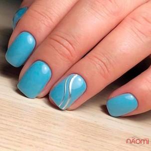 Гибкая лента для ногтей GL-3-S, цвет серебро