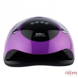 УФ LED лампа світлодіодна Sun BQ5T 120 Вт, з ручкою, таймер 10, 30, 60 і 99 сек, колір фіолетовий