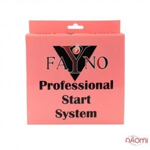 Стартовый набор Fayno №5 гель-лаки 33, 34, база, топ, вспомогательные жидкости, пилка