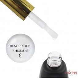База камуфлирующая каучуковая для гель-лака You POSH French Rubber Base De Luxe 06 с шиммером, 12 мл