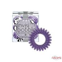 Резинка-браслет для волос Invisibobble ORIGINAL Meow and Ciao, цвет фиолетовый, 3 шт, 30х16 мм