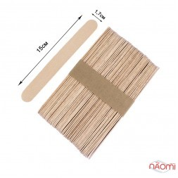 Шпатель деревянный, одноразовый 15 х1,7 см, 50 шт.