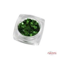 Декор для ногтей звездочки Salon Professional, цвет зеленый