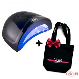 УФ LED лампа светодиодная NUB 48 Вт, таймер 15, 30, 60 сек, цвет темно-синий