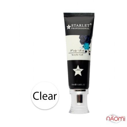 Полигель Starlet Professional 01 прозрачный, 30 мл, фото 1, 225.00 грн.