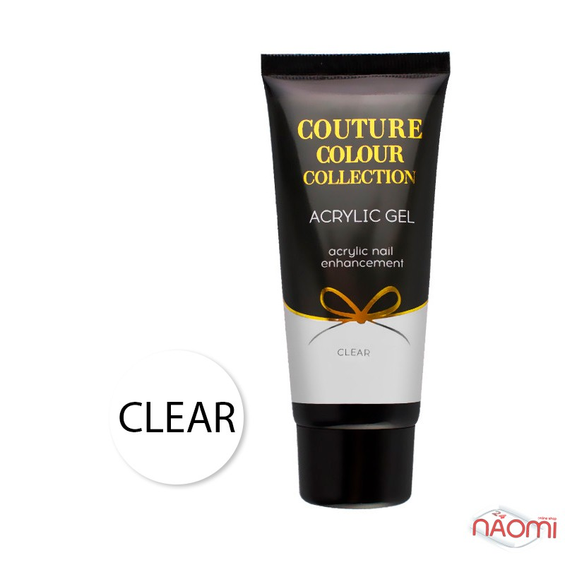 Акрил-гель Couture Colour Acrylic Gel Clear, прозрачный, 60 мл, фото 1, 850.00 грн.