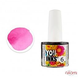 Чорнило Yo nails Inks 6, колір рожевий, 5 мл