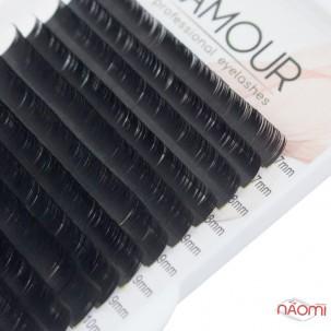 Вії Lamour D 0,07 (20 рядків: 7-12 мм), чорні