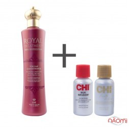Кондиционер для объема Royal Treatment CHI White Truffle Peаrl, 355 мл + шелк Silk, Keratin, 2x15 мл