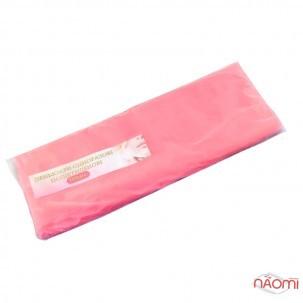 Пеньюар одноразовый полиэтиленовый с антистатиком, цвет розовый 100 шт.