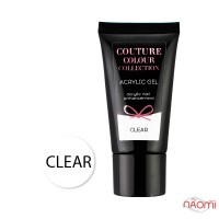Акрил-гель Couture Colour Acrylic Gel Clear прозорий, 30 мл