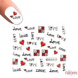 Слайдер-дизайн A 552 Написи, любов