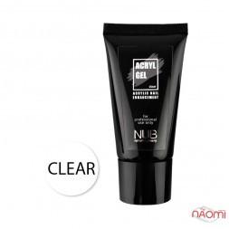 Акрил-гель NUB Acryl Gel Clear прозорий, 30 мл