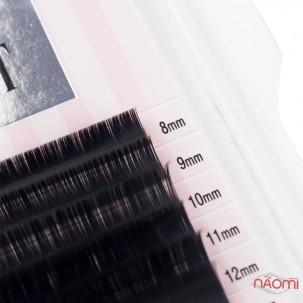 Ресницы Lash Secret D 0,1 (6 рядов: 8-13 мм), черные