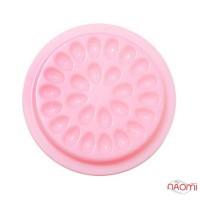Палетка для клея на 26 ячеек, ромашка, цвет розовый, 5 шт.