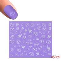 Наклейка для ногтей DTL-097 Котики
