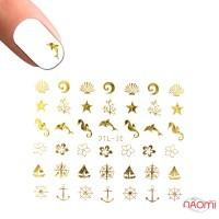 Наклейка для нігтів DTL-030 Морський дизайн