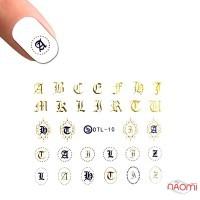 Наклейка для ногтей DTL-010 Буквы