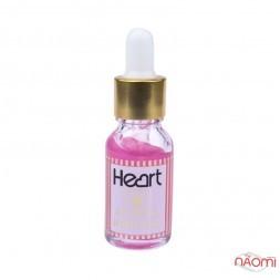 Засіб для видалення кутикули Heart Cuticle Remover з піпеткою, колір рожевий 15 мл