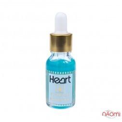 Засіб для видалення кутикули Heart Cuticle Remover з піпеткою, колір синій 15 мл
