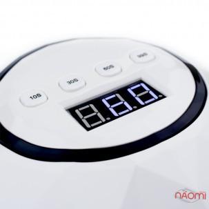 УФ LED лампа светодиодная F 5, 72 Вт, таймер 10, 30, 60 и 99 сек, цвет белый
