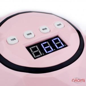 УФ LED лампа светодиодная F 5, 72 Вт, таймер 10, 30, 60 и 99 сек, цвет розовый