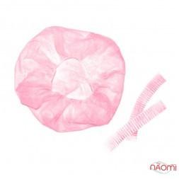 Шапочка Гофре, колір рожевий, 100 шт.