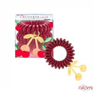 Резинка-браслет для волос Invisibobble ORIGINAL Happy Hour Cherry Lady, красная, прозрачная, 6 шт.