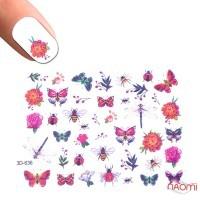 Слайдер-дизайн 3D 636 Цветы, насекомые