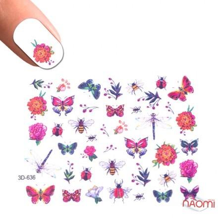 Слайдер-дизайн 3D 636 Цветы, насекомые, фото 1, 50.00 грн.