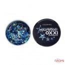 Глиттерный гель в баночке OXXI Hollywood 12 сине-голубая радуга с голографическим эффектом, 5 г, фото 1, 135.00 грн.