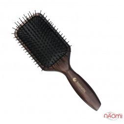 Массажная щетка для волос Hairway Cushion Brush Wenge-2, деревянная, прямоугольная