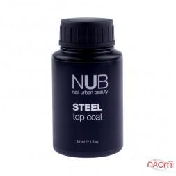 Топ для гель-лаку без липкого шару NUB Steel Top Coat, 30 мл