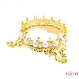 Подставка для кистей корона, цвет золото